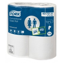 CE472159 - T4 Tork Traditioneel Toiletpapier 2-laags Wit 198 Vel Advanced