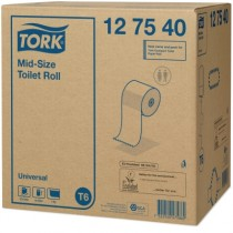 T6 - Compact toilet systeem vulling, Mid-size Toilet Roll Advanced 2lgs 100m - 127530